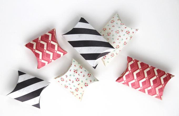 Коробочки-подушки.